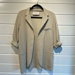 Harris Wharf London Relaxed Open Textured Blazer
